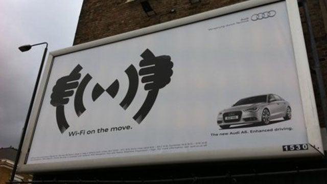 Audi's hilarious unintentional Goatse billboard
