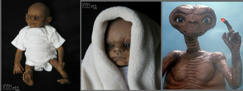 Gaze into the soulless, dead eyes of baby Chewbacca and Luke Skywalker dolls