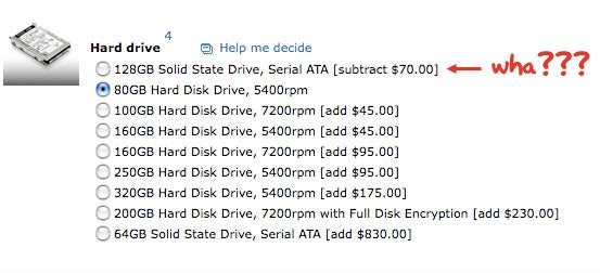 Lenovo Webstore Mistake Makes X200's 128GB SSD Option Cheaper Than 80GB HD