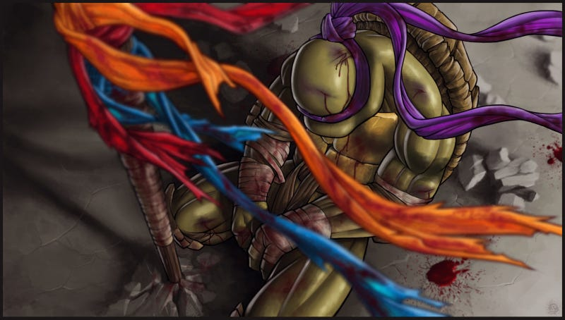Is this the most gut-wrenching Ninja Turtles fan art ever made?