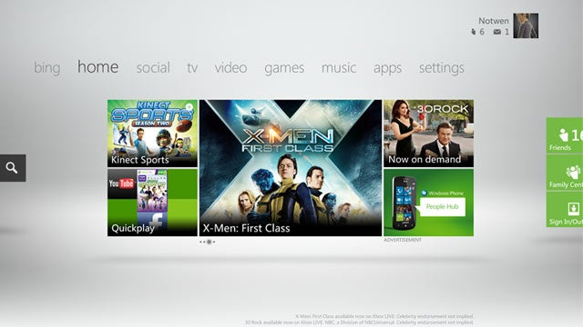 "Xbox Live ""Metro"" Brings More Bing, Kinect, and Cable TV Integration To the Holidays"