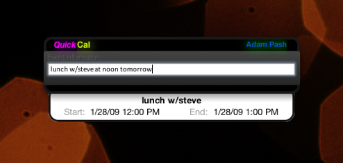 QuickCal Creates Accurate Calendar Events with Natural Language