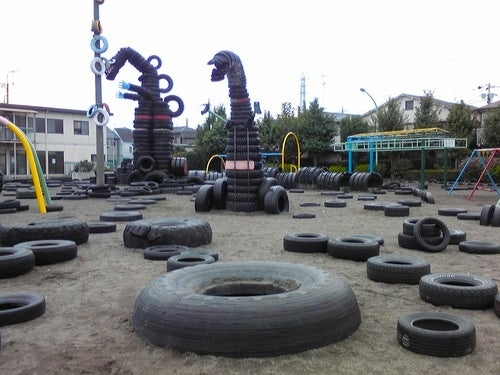 Where Old Tires Go To Become Godzilla