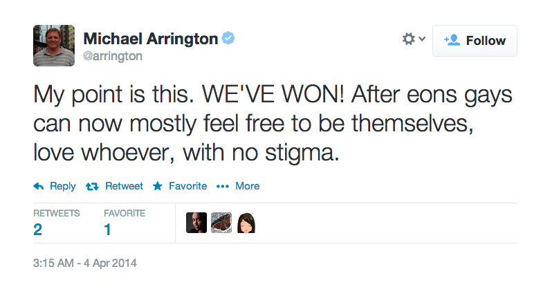 "Michael Arrington Defends Mozilla CEO Because Gays are ""Mostly Free"""