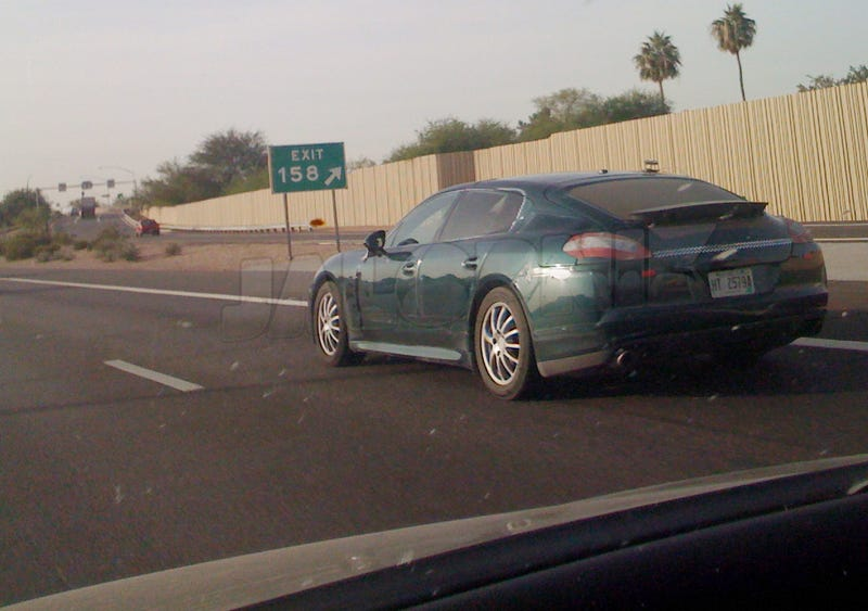 Porsche Panamera Spotted Continuing World Tour With A Drive In Arizona