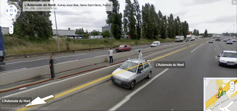 Google Street View Captures Dudes Peeing Together in the Middle of a Busy Highway
