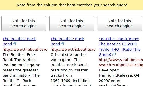 Blind Search Reveals Which Engine You Really Prefer