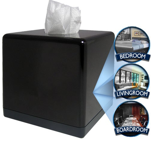 Tissue Box Spy Camera Watches You as You Wipe Your Snot