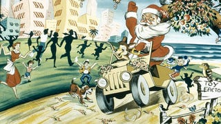 This Is The Most Terrifying Image Of Santa Claus Driving A Car