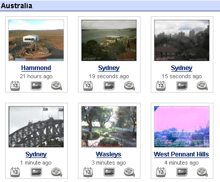 View local weather webcams (and add your own)