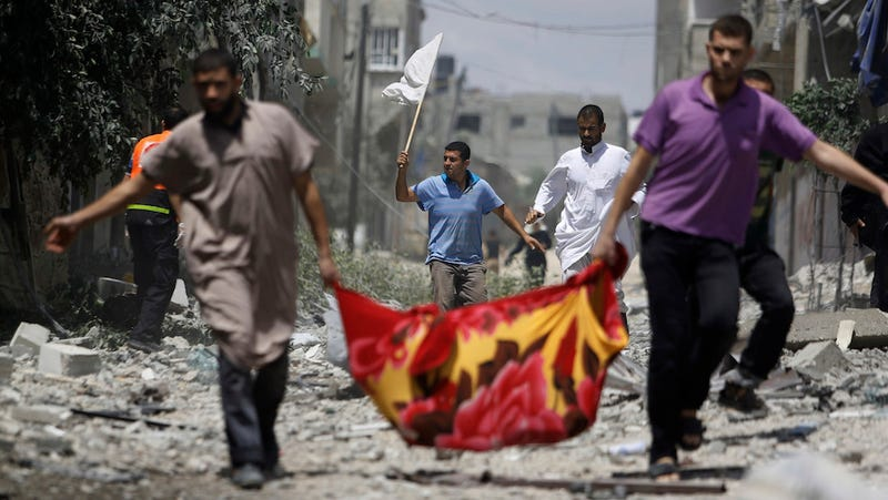 "87 Palestinians, 13 Israeli Soldiers Dead in War's ""Deadliest Day"""