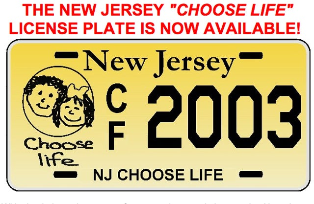 New Jersey Approves 'Choose Life' License Plates That Nobody Wants