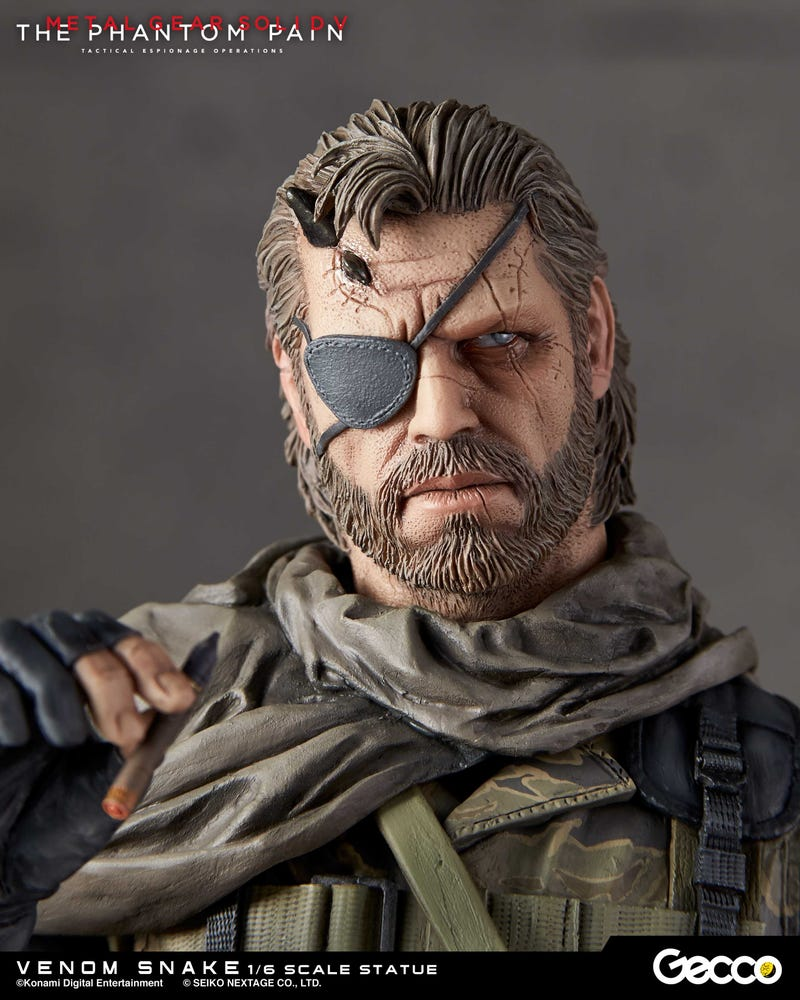 $300 Statue Of Metal Gear Solid V's Venom Snake Includes Cute Puppy