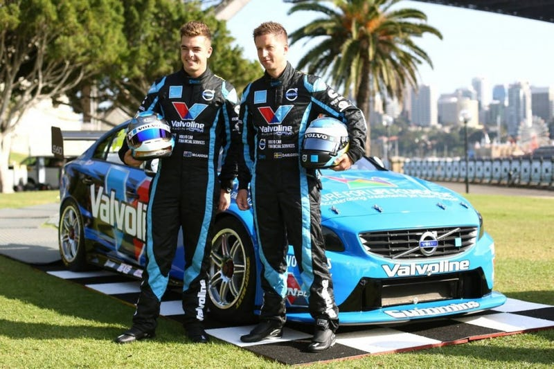 Volvo V8 Supercar on front row for the first race it entered!