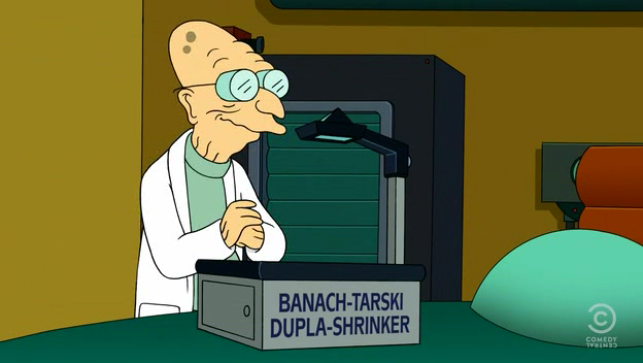 Did Futurama get the Banach-Tarski Paradox right?