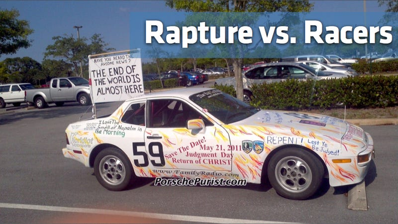 Car enthusiasts troll true believers ahead of end times
