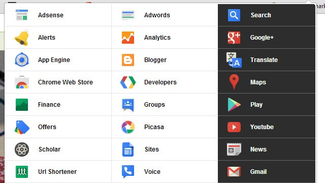 Black Menu Puts Google Shortcuts in Your Toolbar, Is Way Better Than Google's Menu