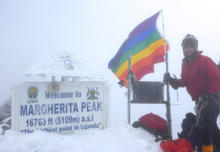 Ice Cream Maker Plants Gay Pride Flag on Uganda's Highest Peak