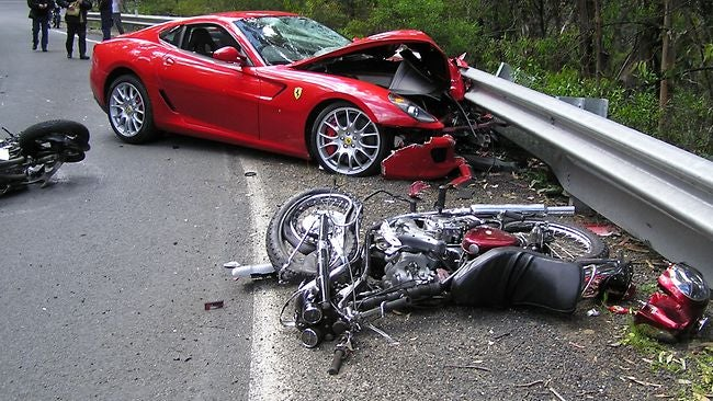 Ferrari Driver Escapes Serious Accident With Minor Injury To Wallet
