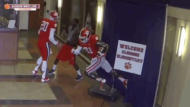 Clemson QB Scares People; One Guy Reacts By Slapping Him