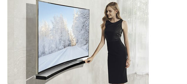 Samsung Has a Curved Soundbar For Your Curved TV