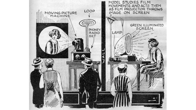 In the 1920s, businesses tricked shoppers by putting fake television sets in their windows