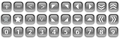 """Free """"glass"""" buttons and bars for your site"""