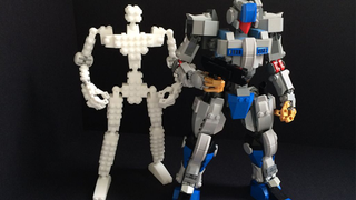This 3D printed frame makes building articulated Lego Mecha super easy