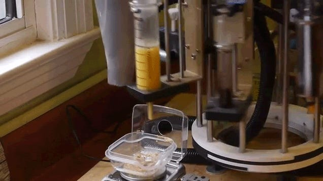 A genius guy invented the perfect machine to make a single cookie