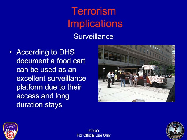Food Trucks Are Increasingly Serious Terrorism Threat, Says NYC's Fire Department