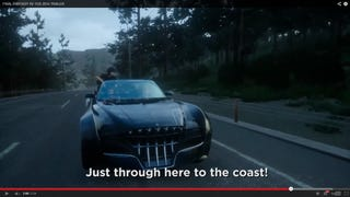 FFXV has a trailer, and it's got a convertible.