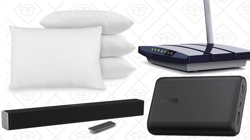 Today's Best Deals: Better Audio, Smaller Battery Pack, $50 Router, and More