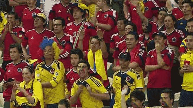 Colombian Supporter Unimpressed With Officiating