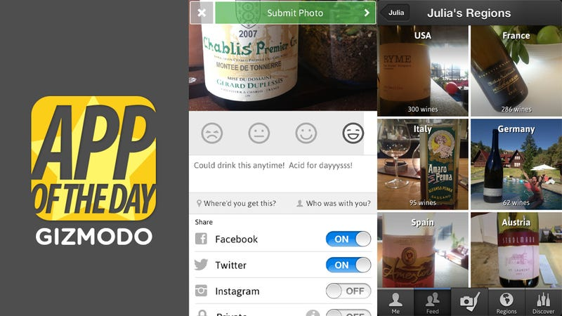 Delectable Wine for iOS: Identify Wine and Dole Out Recs Like a Pro