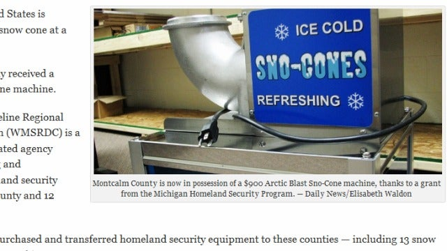 $11,700 Worth of Snow Cone Machines Will Help Defeat Terrorism