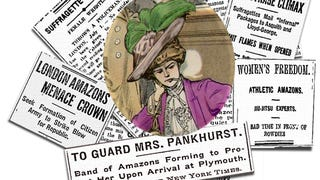 """Mrs. Pankhurst's Amazons"": a thrilling tale of Suffragette super-heroines"