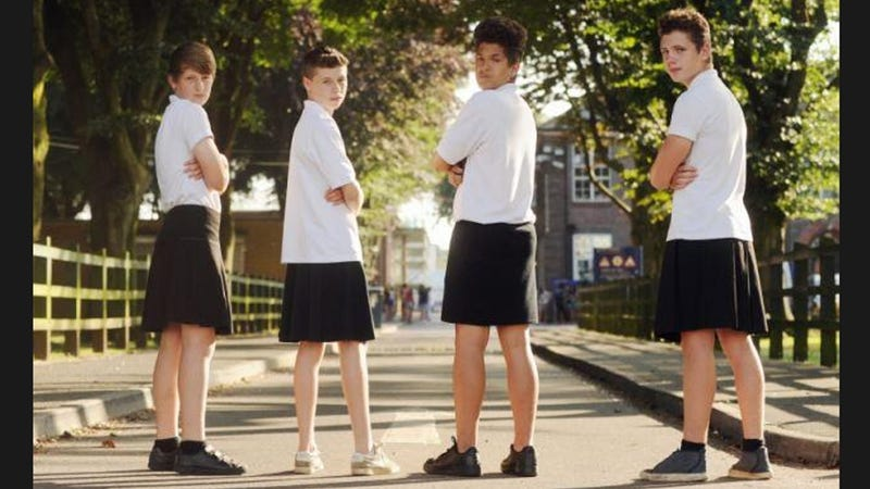 Teen Boys Wear Skirts to School to Protest Ban on Shorts