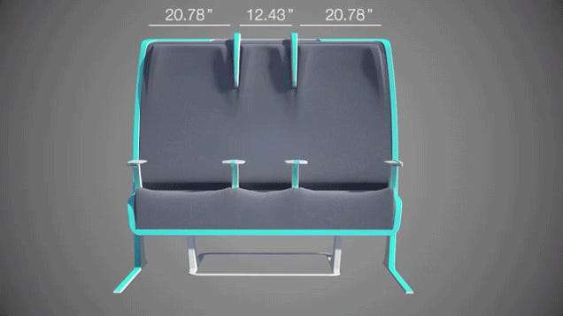 Would you want to sit in these morphing airplane seats?
