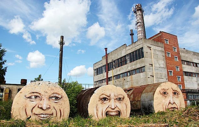 Cool graffitis bring old buildings to life