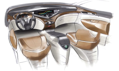 Nissan Forum Concept Interior Drawings