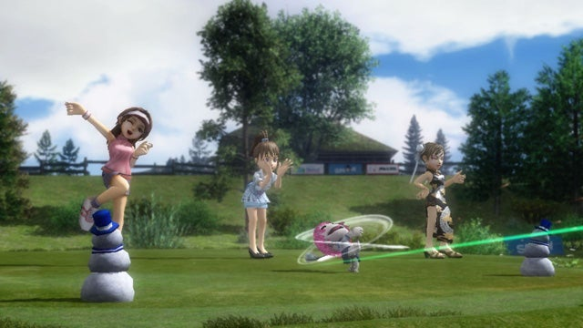 Sackboys Playing Hot Shots Golf In Japan