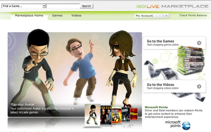 Xbox Live Web Marketplace Goes (Almost) Live
