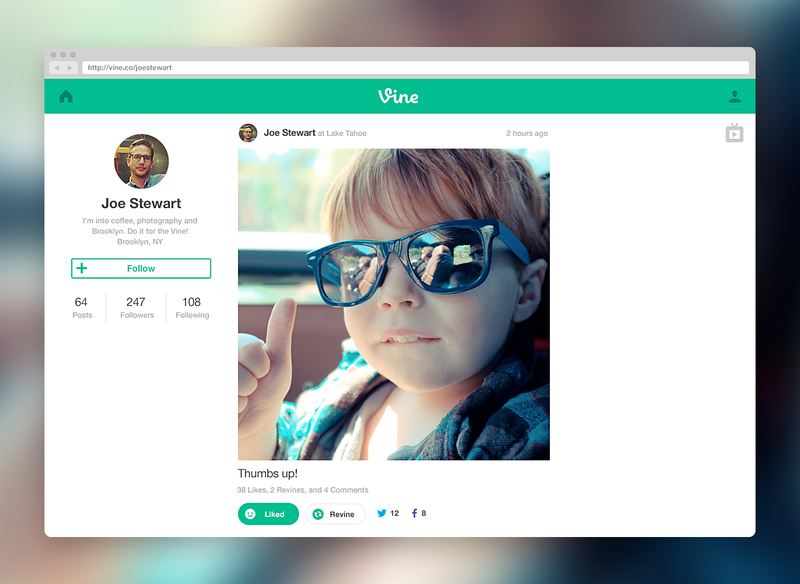 You Can Officially Browse Your Vine Feed on the Web