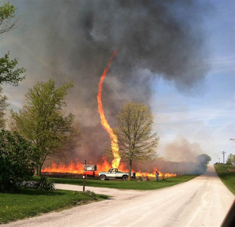 Behold the evil of the FIRENADO!