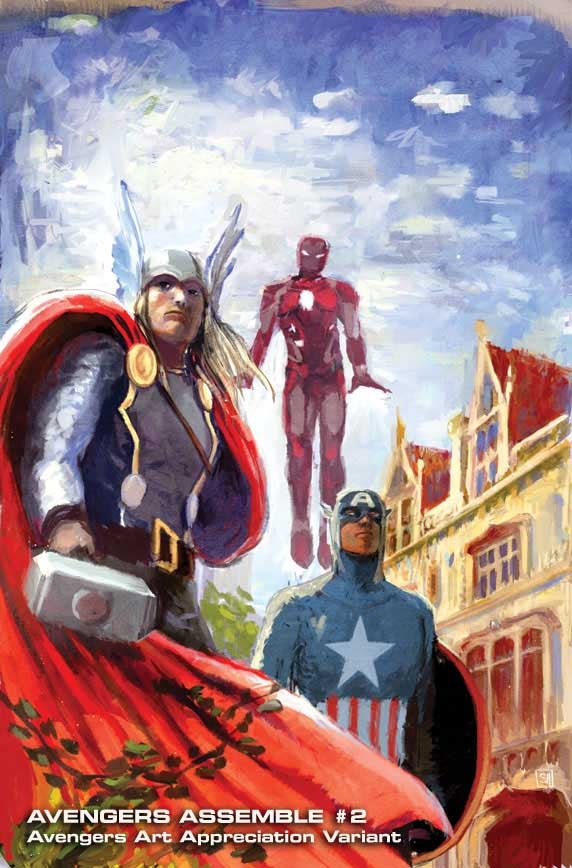 Avengers fine art covers present The Hulk à la Michelangelo and Al Hirschfeld