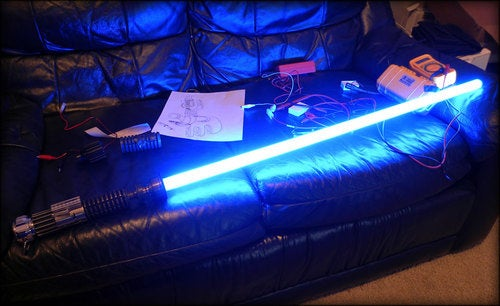 How to meticulously make a lightsaber out of spare parts