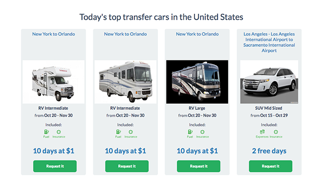 TransferCar Lets Your Rent a Car One-Way for Free