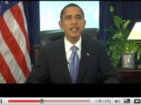 Obama Equals Churchill In Ominous YouTube Address