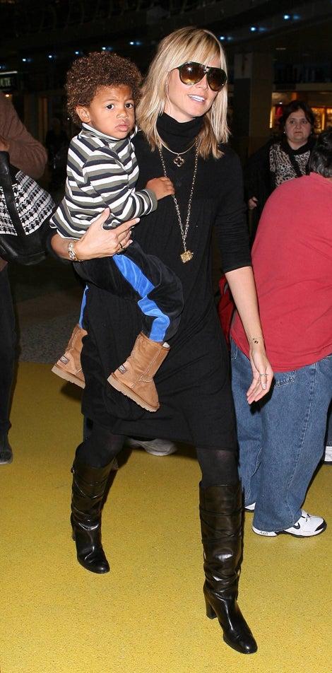 Heidi Klum & Baby Henry Boot Up