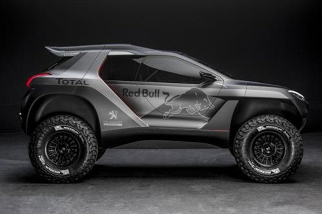 So I watched the video reveal of the Peugeot 2008 DKR